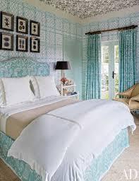 Aqua Color Bedroom Miles Redd Interior Designer Wallpaper Ideas Home Decor