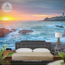 light house sea view self adhesive photo mural artbedding