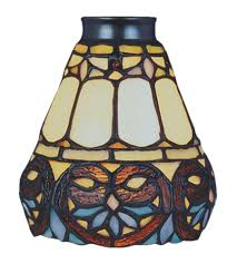 Stained Glass Ceiling Fan Light Shades Add Decor And Lighting To Your Room Using Stained Glass Ceiling