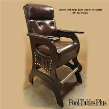 pool table spectator bench mann spectator rocking chair