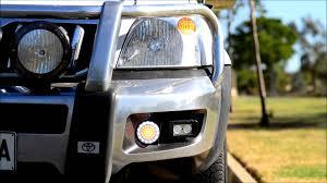 bullbar led drl lights for oem bullbar suits prado hilux