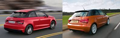 audi a1 model car audi a1 facelift what s uk side by side comparison carwow