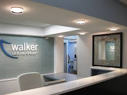 Medical Office Reception Furniture Prominent Logo Behind Reception Front Desk Inspiration