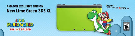 amazon nintendo 3ds xl black friday new amazon exclusive lime green nintendo 3ds xl with super mario