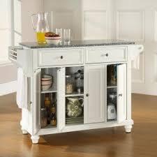 white kitchen cart island white kitchen cart with granite top foter