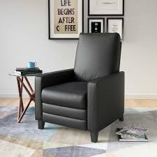 Overstock Armchair Corliving Kelsey Bonded Leather Modern Recliner Armchair Free