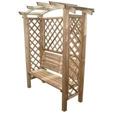 panchina in legno da esterno pergole legno blinky mod arco panca 160x70x194 pino