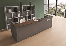 Ikea Reception Desk Grey Wall And Glass Windows Using Brown Modern Ikea Reception Desk