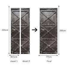 home decor creative diy 3d door stickers iron door pattern for