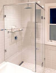 glass shower screens sky high glass custom frameless front and half return on bath showerscreen paddington