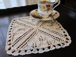 home decor e patterns knit heartstrings learn and knit alongs tea time serviette e pattern