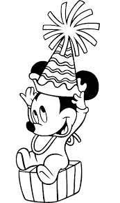 mickey mouse outline coloring page free download