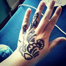 henna tattoo indian pattern hindi culture sketch hands pen