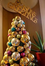 diy glass ornament tree mint