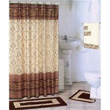 Shower Curtain At Walmart - coffee 18 piece bathroom set 2 rugs mats 1 fabric shower curtain