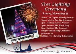 12pm tree lighting ceremony national harbor national harbor