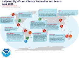 North America Climate Map by Global Climate Report April 2016 State Of The Climate