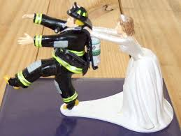 fireman cake topper seth s custom models firefighter wedding cake topper
