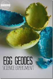 crystal egg geodes science experiment