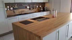 cuisine et plan de travail plan de travail en bois massif pour votre cuisine