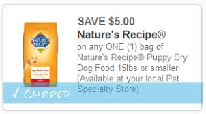 printable nature s recipe dog food coupons nature s recipe puppy food coupon