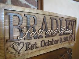 personalized wedding gifts personalized wedding gift custom family name signs 3d wood