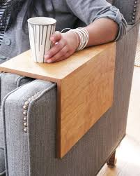 Sofa Arm Table by The Original Angled Couch Arm Wrap Solid Wood Custom Arm
