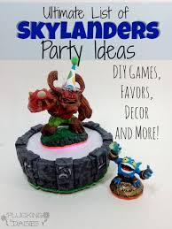 Skylander Favors by Ultimate List Of Skylanders Ideas Plucking Daisies