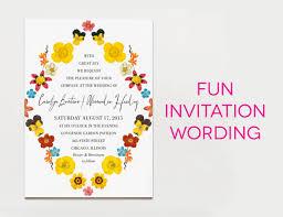 wedding invitation wording creative and traditional invitation