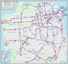 San Francisco Districts Map by Bus Map Of San Francisco Michigan Map