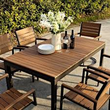 Rectangle Patio Dining Table Furniture Rectangular Faux Wood Patio Dining Table For Charming