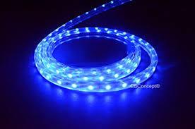 Outdoor Led Rope Lighting 120v Cbconcept Ul Listed 40 4300 Lumen Blue