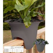 railing planters pots u0026 planters the home depot
