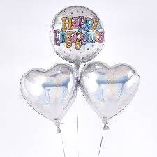 inflated helium balloons delivered happy engagement holographic balloon bouquet inflated free