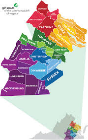 Virginia Map Of Cities by Our Council Council Map Scouts Of The Commonwealth Of