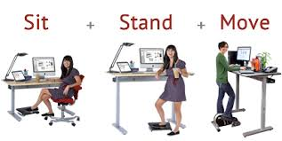 sit stand computer desk ergonomics electric height adjustable single feet laptop desk
