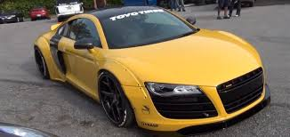 Audi R8 Yellow - liberty walk audi r8 is a tuning world first looks wilder than a