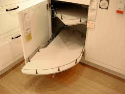 How To Make Pull Out Drawers In Kitchen Cabinets Pull Out Corner Base Cabinet Great Idea For The Corner