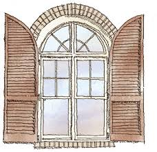 Arch Window Blinds That Open And Close Getting Shutters Right Fine Homebuilding