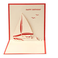 3d pop up yacht happy birthday cards amazon co uk office products