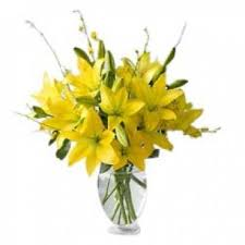 Yellow Lilies Send Lilies Send Flowers To India