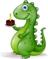 dinosaur birthday dinosaur with birthday cake stock vector illustration of childish