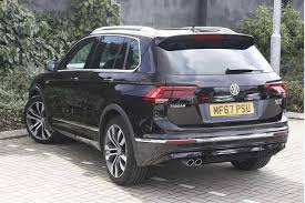 black volkswagen tiguan find a used black vw tiguan r line 2 0 tdi 150ps 4wd in stockport