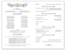 wording for wedding program exles of wedding programs party relevant print e exmouth
