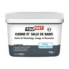 enduit cuisine lessivable toupret enduit rénovation cuisine et salle de bains 4 kg achat