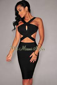 cut out dresses cut out open back bandage dress