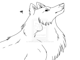 coloring page female wolf coloring pages wolf anime wolf
