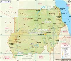 Map Of Africa With Capitals by Sudan Map Map Of Sudan