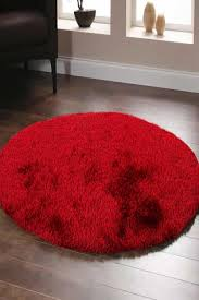 buy oslo round shag red rug at cheapest rugs online