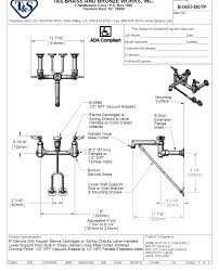T S Brass Commercial Kitchen Faucets by Mop Sink Faucet Spec Sheet Best Sink Decoration